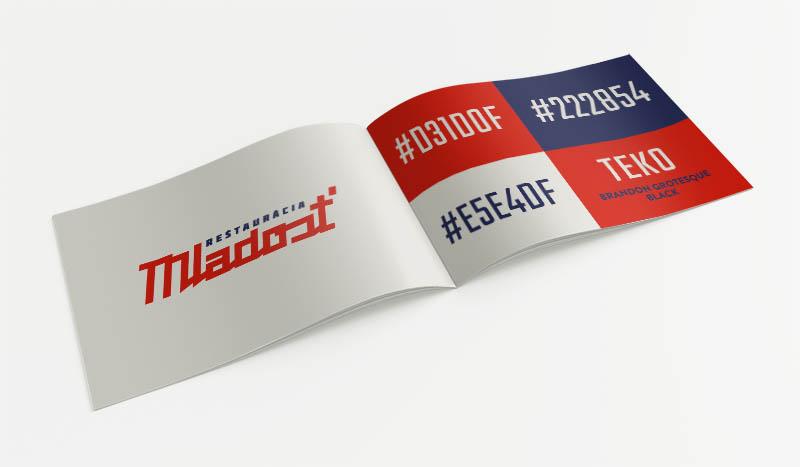 Reštaurácia Mladosť - logo a firemná identita