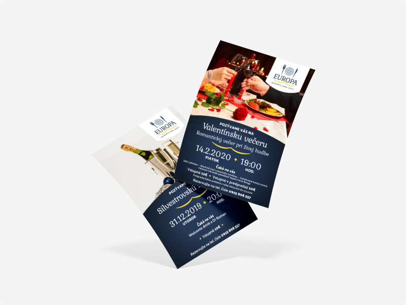 Reštaurácia Europa - plagát