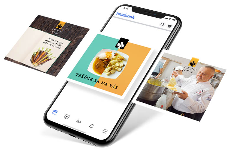 Reštaurácia Čierny Orol - Facebook reklama