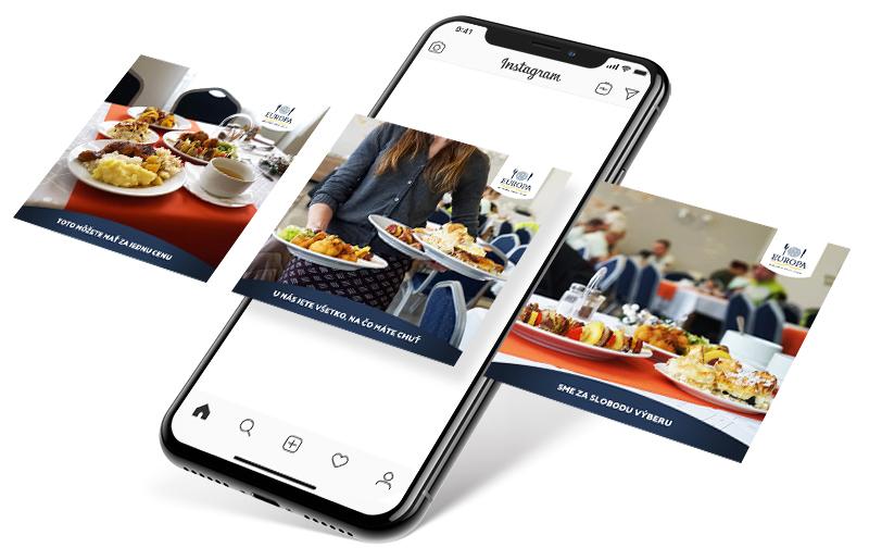 Reštaurácia Europa - Instagram reklama