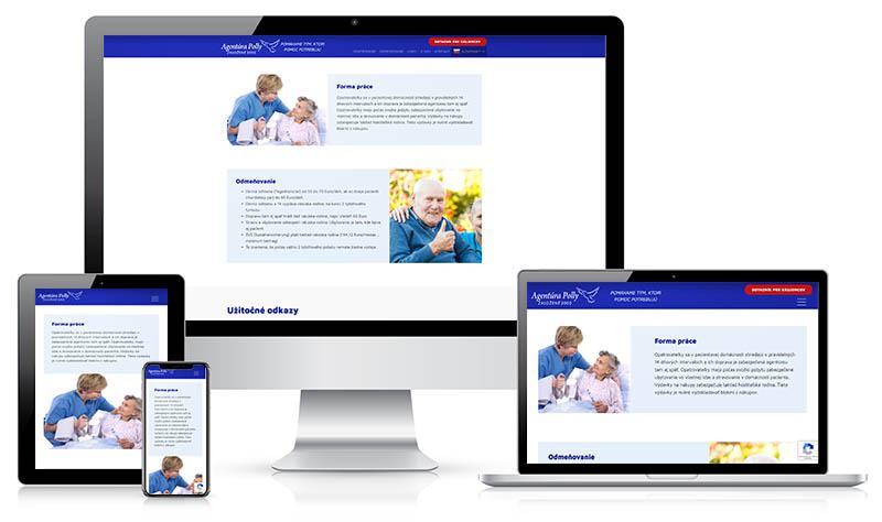 Agentúra Polly - webstránka