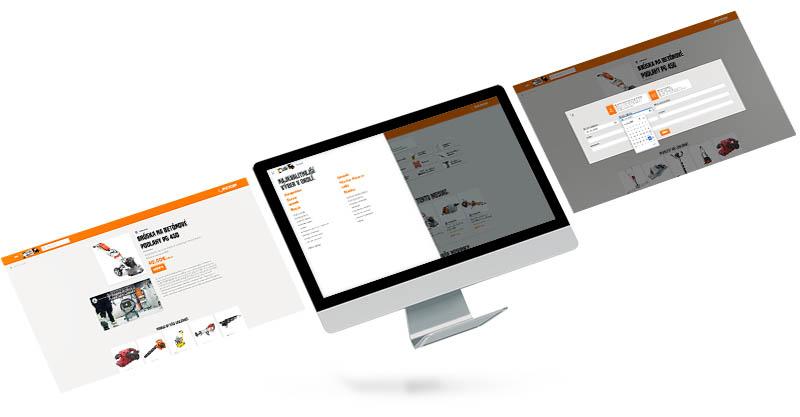Požičovňa náradia RS - webstránka